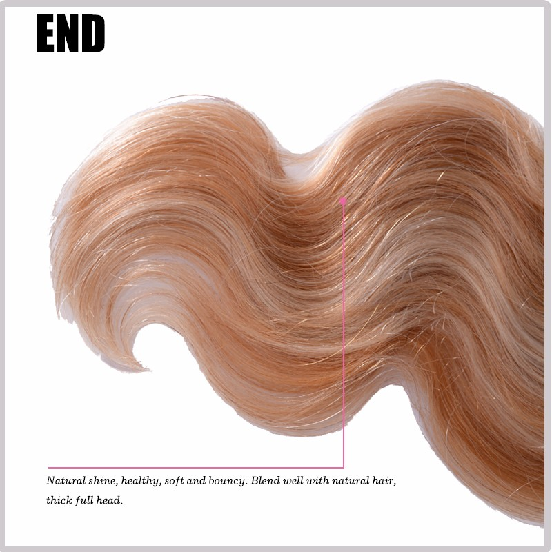 Clip in human hair extensions golden blonde #27 clip in hair extensions for black women Brazilian virgin human hair Clip-Ins 7PC (3)
