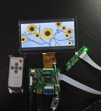 Wholesale 7 inch LCD 1024*600 Display Monitor Touch Screen Panel with Drive Board (HDMI+VGA+2AV) for Raspberry Pi/PC Windows