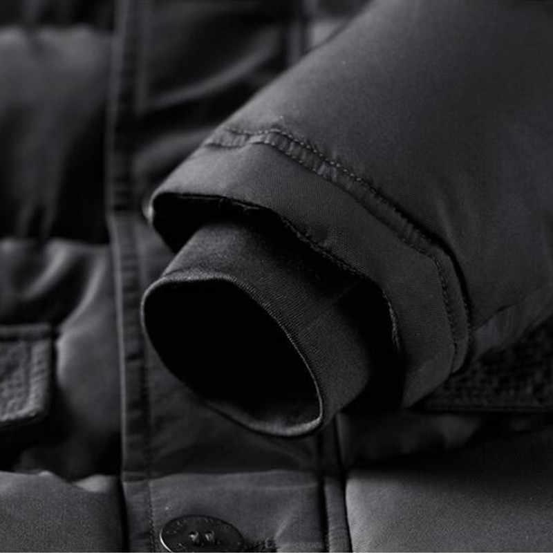 2018 جديد العلامة التجارية الرجال الشتاء الحرارية سترة العسكرية التكتيكية الدافئة أسفل القطن مبطن مقنعين سترة للماء أعلى سترة أبلى