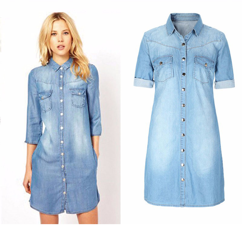 Popular Blue Jean Dress-Buy Cheap Blue Jean Dress lots from China ...
