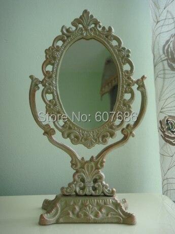 Antique Victorian Iron Vanity Dress Mirror Dresser Mirror