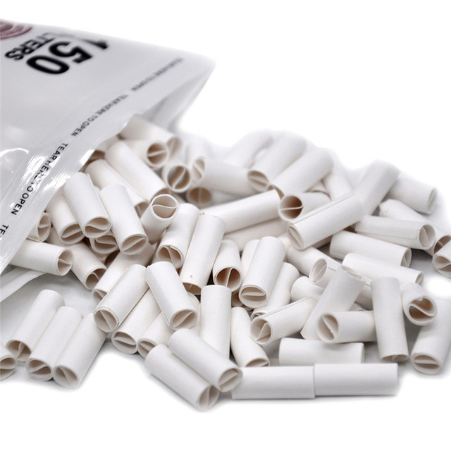 ISHOWTIENDA 1 Pack 150Pcs Hornet Hand-rolled Cigarette Paper Per Rolled Tips Natural Prerolled For Cigarette Rolling Paper 6MM