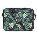 2017 Новый 3d Зеленый Кленовые Листья печати мода стиль полиэстер Женщины сумку bolsas плечо & crossbody мешок
