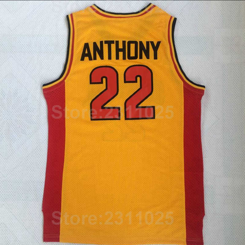 ... Ediwallen College 22 Carmelo Anthony Basketball Jerseys Oak Hill Red  Yellow Uniforms Team Color All Stitched ... d6568383c