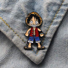 Homegaga ONE PIECE Luffy Zinc tie cartoon Funny Pins backpack clothes brooches for men women hat decoration badges medals D1886