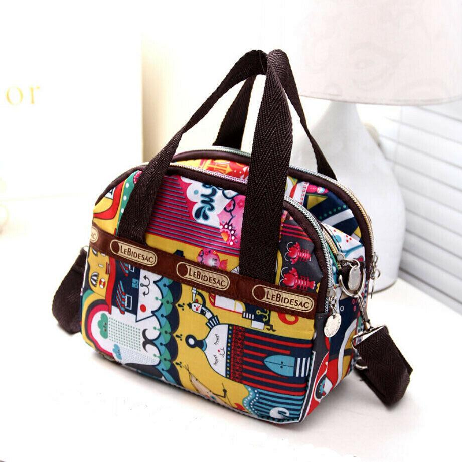 Fashion Variety Of Cartoon Printing Women's Handbag Nylon Casual Travel Shoulder Bag Messenger Bag New