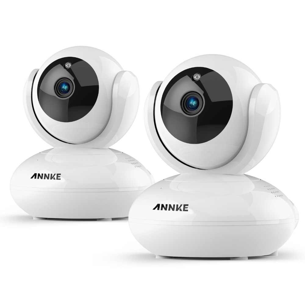 ANNKE 2PCS IP Cameras Wireless 1080P IP Security Camera 2.0MP WiFi IP Security Cam Baby Monitor Pan & Tilt Security Cameras Kit