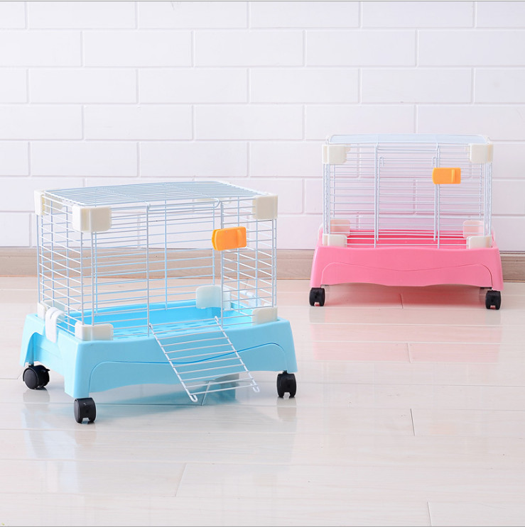 Hotsales that free shipping painting can move rabbit cage for How to clean guinea pig cages