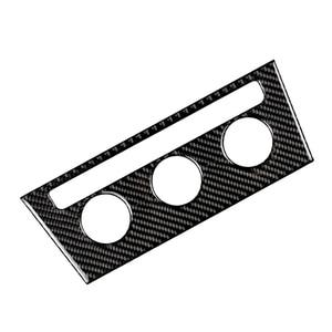 Image 2 - For VW Golf 7 MK7 VII 2013 2014 2015 2016 2017 Carbon Fiber Car Interior Center Console Air conditioning Knob Frame Cover