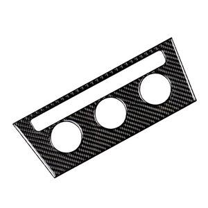 Image 2 - Para vw golf 7 mk7 vii 2013 2014 2015 2016 2017 fibra de carbono interior do carro console central ar condicionado botão quadro capa