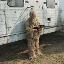 Камуфляжная одежда для охоты, костюмы для снайперов, костюмы, Bionic Airsoft, костюм для стрельбы, Roupa, 3D куртка и штаны для PUBG