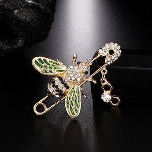 KingDeng Bee Brooch women accessories enamel pins gifts for men enamel pin lapel pin gifts for women kids jewelry hijab pins(China)