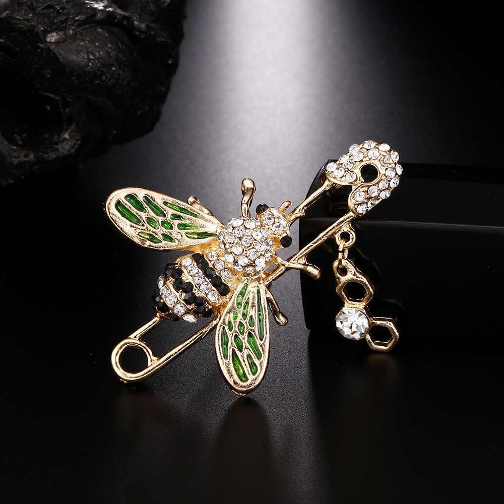 Kingdeng Lebah Bros Wanita Aksesoris Enamel Hadiah untuk Pria Enamel Pin Lapel Pin Hadiah untuk Wanita Anak Perhiasan Hijab pin