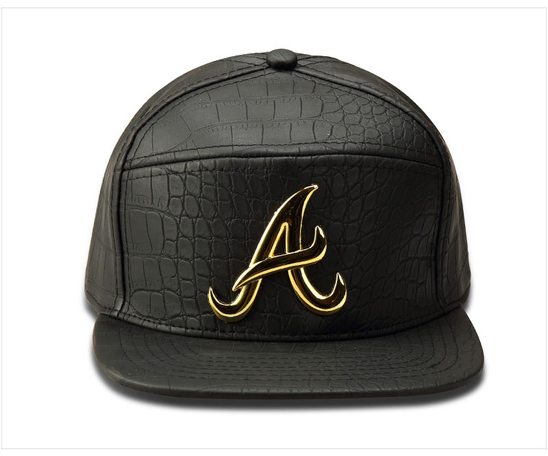 black snapback hat A_04
