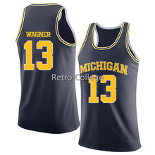 2018 new 13 Moritz Wagner Michigan State Basketball Jersey white bule  Yellow stitched any Size 3c4947345