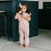 Baby Girl Boy Ruffle Romper Overalls Jumpsuit
