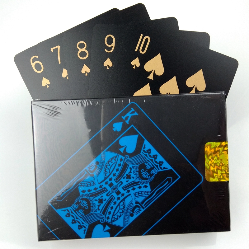 A Deck Of Cards Waterproof PVC Playing Cards Set Poker Card Classic Magic Poker Great Gift For Family Party BBQ Game, 55pcs/Deck