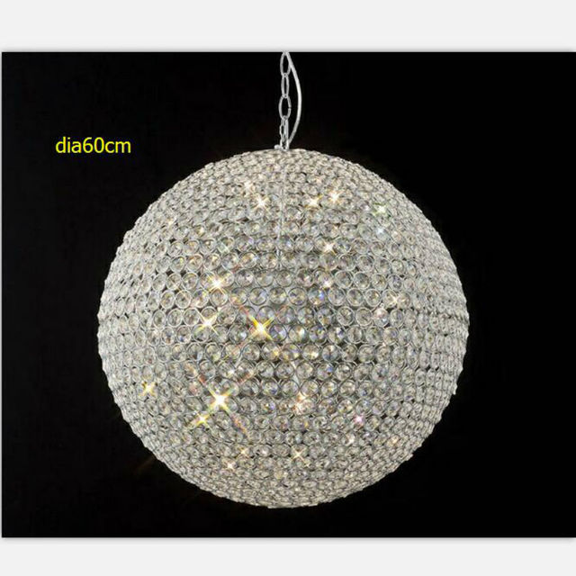 Le Round K9 Crystal Chandelier Led Luxury Lamp Shimmer Droplight Resplendent Ball Lighting For Bedroom