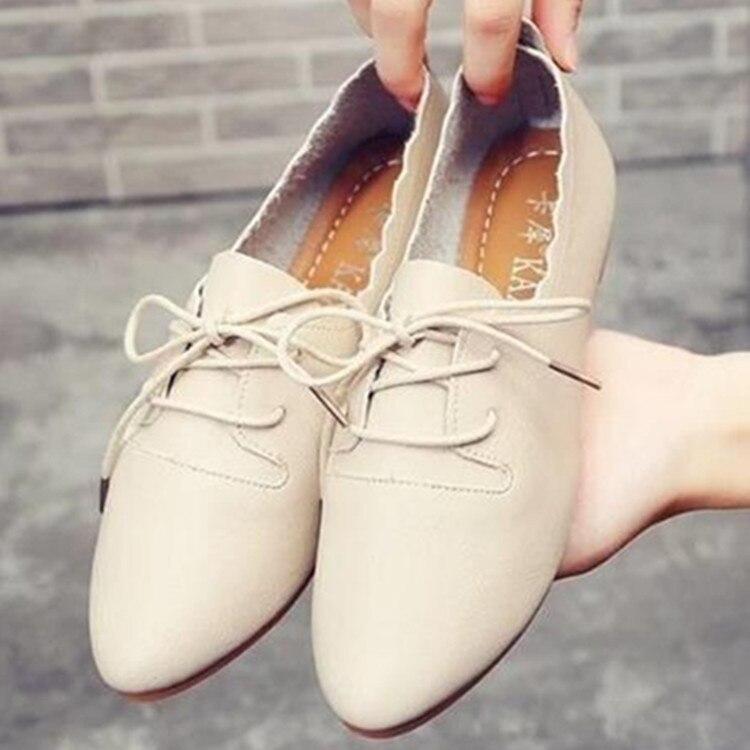 Trendmarkierung Mode Frauen Wohnungen Casual Frauen Schuhe Koreanische Oxford Schuhe Damen Schuhe Herbst 39 Weiche Scarpe Donna Gummi Harajuku Schuhe 2018 Angenehme SüßE