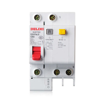 DZ47sLE 1P+N / 63A current Circuit breaker with over current and Leakage protection, air break switch
