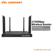 COMFAST gigabit 1750 Mbps wifi router high power 6 antennes 2.4G + 5.8G access point ondersteuning openwrt engels firmware CF-WR650AC