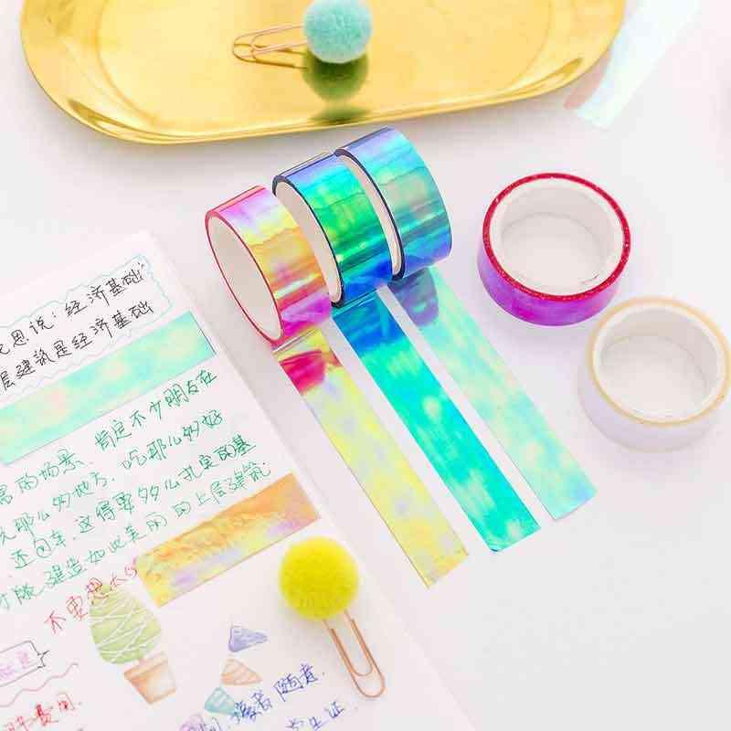 7pcs Washi Masking Tapes DIY Sticky Paper Tapes Decor for Scrapbook Random Color