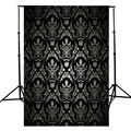 3x5FT retro wall Vinyl Photography Background For Studio Photo Props Black Photographic Backdrops Cloth  light weight 90x150cm