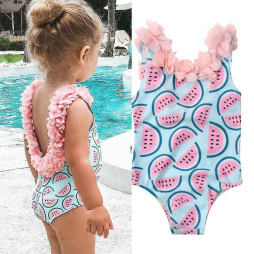 6M-4T Toddler Baby Girl Watermelon Bikini Swimsuit Swimwear Bathing Suit Swimming Summer Clothes