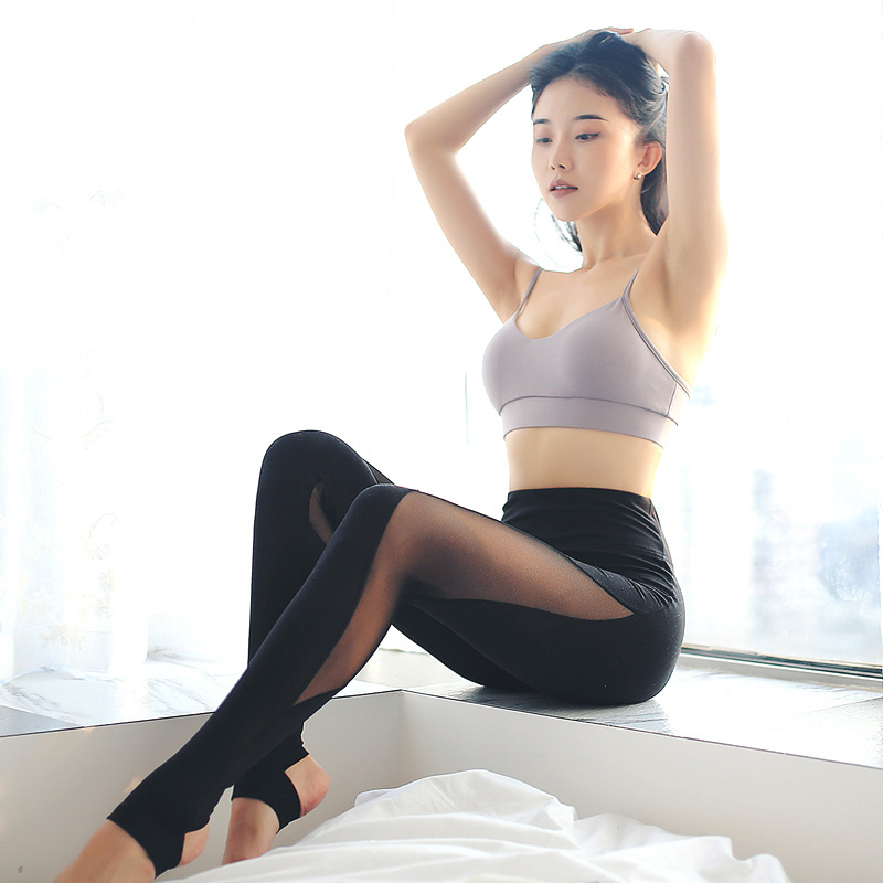 3482d240d5fb73 Damskie spodnie do jogi tkanina termoaktywna sportowe legginsy odzież  fitness Stretch rajstopy na siłownię ćwiczenia dla kobiet spodnie do  biegania sportowe ...