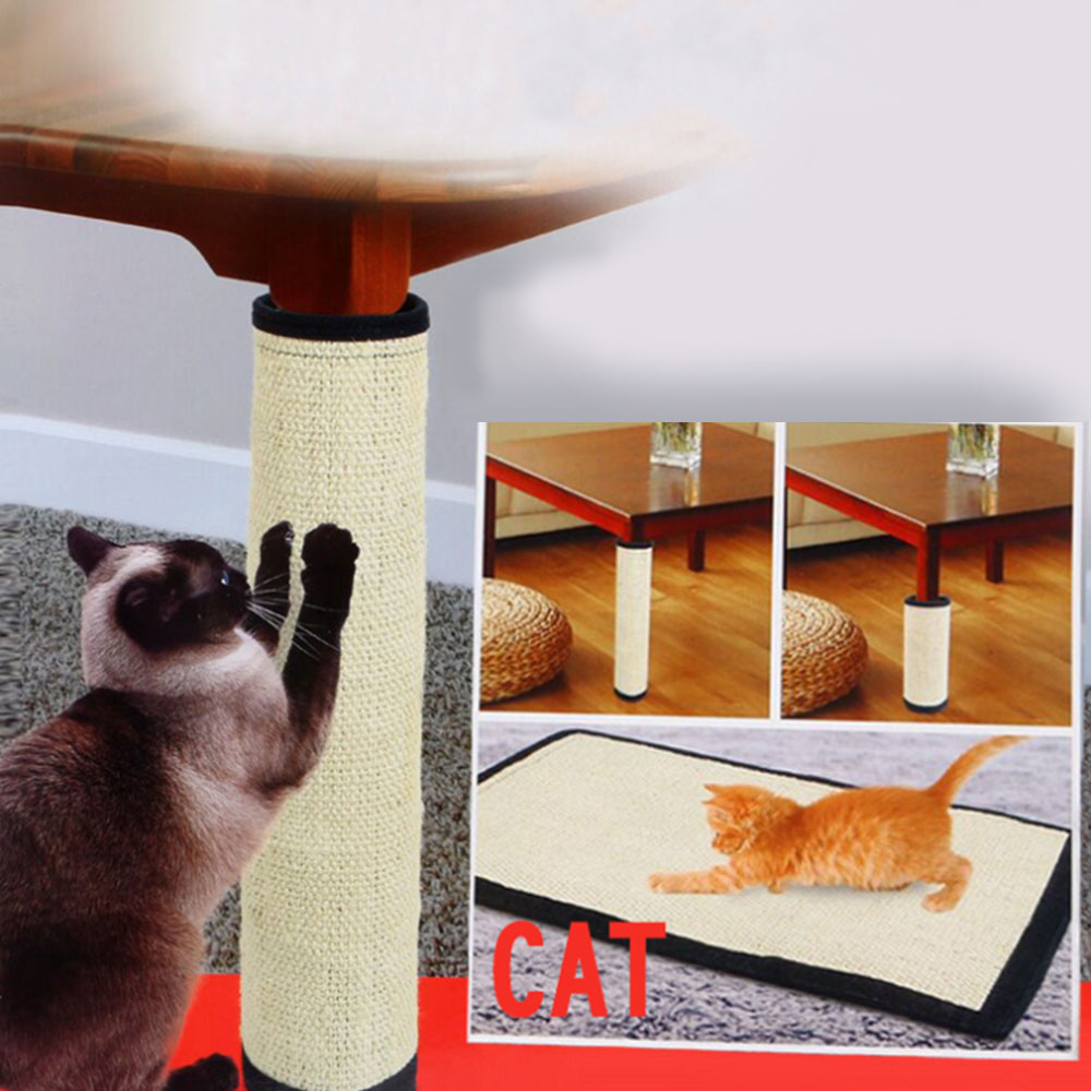 2 Sizes Cat Scratching Post Natural Sisal Mat Protecting Furniture Foot For Cat Catnip Tower Climbing Tree Cat Scratch Pad Board