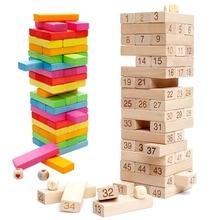 Обучающие игрушки timber Tower деревянный блок укладка игра-номер матча Playset(48 шт