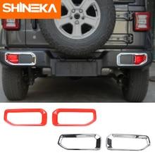 Shineka Lamp Hoods Voor Jeep Wrangler Jl 2018 + Abs Auto Mistachterlicht Lamp Decoratie Cover Voor Jeep Wrangler jl Accessoires