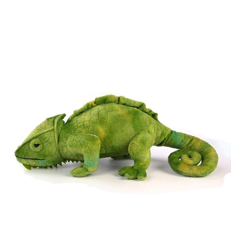 40CM Lifelike Green Chameleon Plush Toys Soft Realistic Wild Reptile Stuffed Toys For Boys Kids Birthday Christmas Gifts