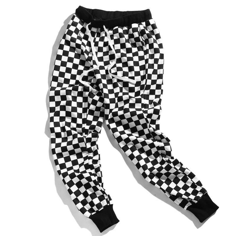 Aolamegs Pants Men Plaid Checkerboard Pants Fleece Thick Trousers Pants Mens Tactical Elastic Waist Fashion Joggers Sweatpants (9)