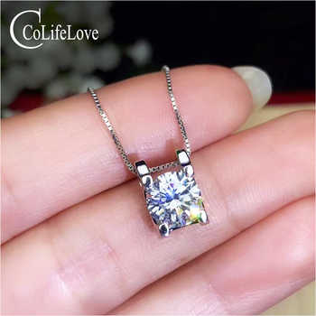 CoLife Jewelry Classic Moissanite Pendant 1.5ct Real F Color VVS1 Grade Moissanite Silver Pendant 925 Silver Gemstone Jewelry - DISCOUNT ITEM  30% OFF All Category
