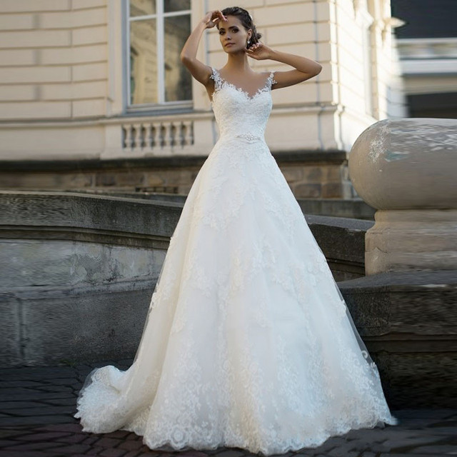 2017 Custom Made Lique Lace Wedding Dress Online