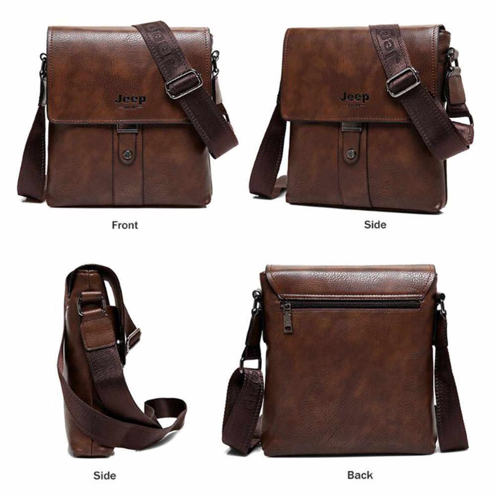 94e42dbbdedf ... JEEP BULUO Brand Men Bags Cow Split Leather Fashion Male Messenger Bags  Men s Briefcase Man Casual ...