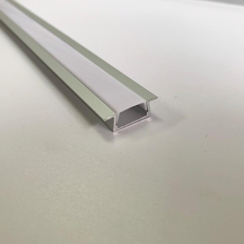 20 pièces 2 m longueur TS06 a mené le profil en aluminium pour le logement mené de conduit en aluminium pour bande de led de lumières de bande