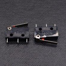 10 шт. концевой выключатель, 3 Pin N/O N/C высокое качество все новые 3A 250VAC микро переключатель Прямая с фабрики
