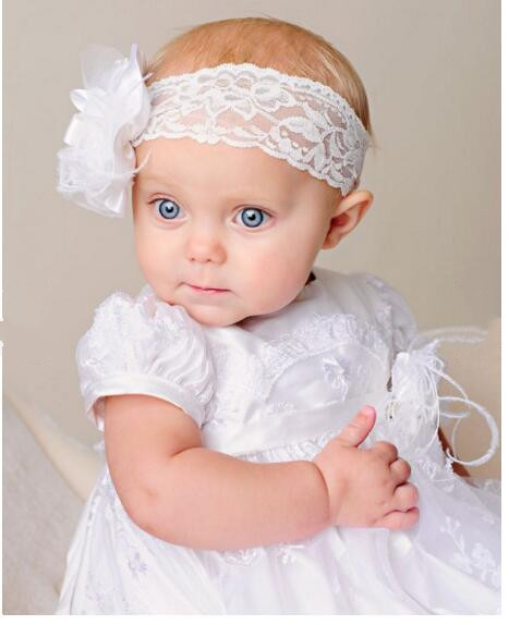 2016 Noble Vestidos Baby Girl Christening Dress Todder Baptism Gown Lace Applique Robe White/Ivory 0-24month