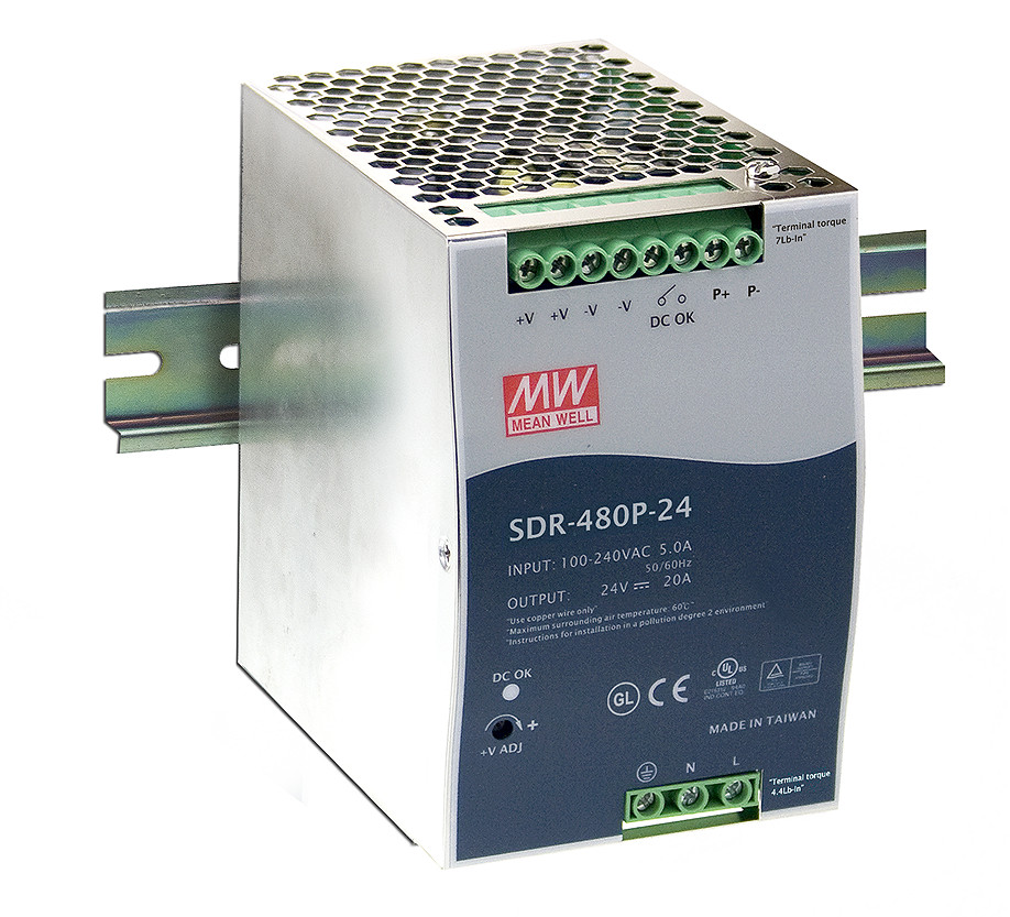 MEAN WELL original SDR-480P-24 24V 20A meanwell SDR-480P 24V 480W Industrial DIN RAIL with PFC and Parallel Function камера панасоник sdr h21 батарейку
