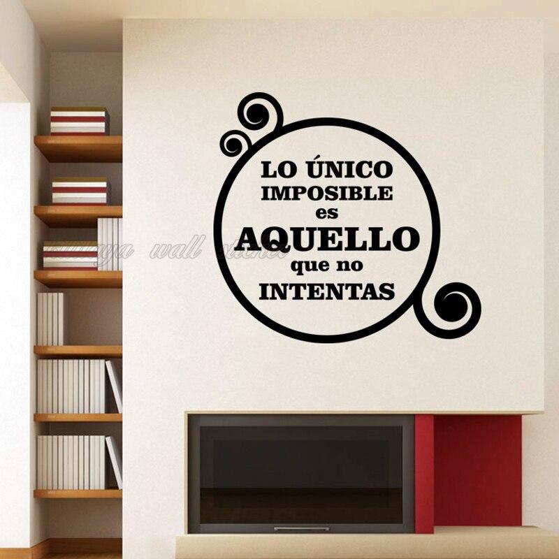 Aliexpress Buy Stickers Spanish Quote Vinyl Wall Sticker