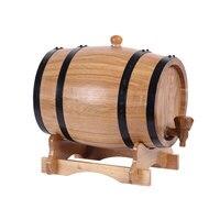 XMT HOME pure oak wine bucket wooden barrels alcohol liquor brandy barrels mini wine keg without inner tank 3L/5L