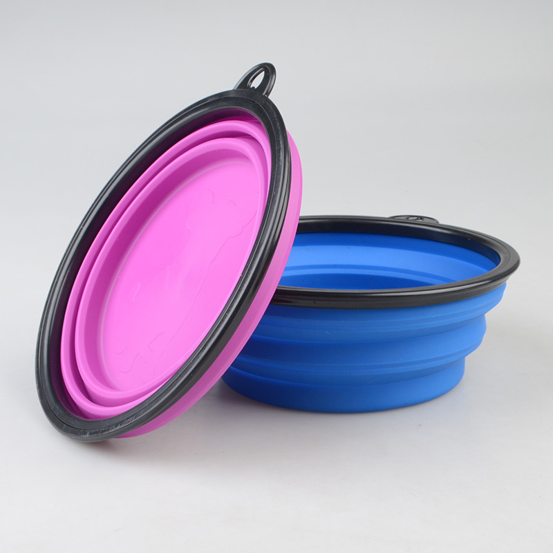 1000ML Big Volume Silicone Dog Bowl Dog Cat Travel Bowl Collapsible Feeding Water Dish Feeder Portable Water Bowl for Pets (4)