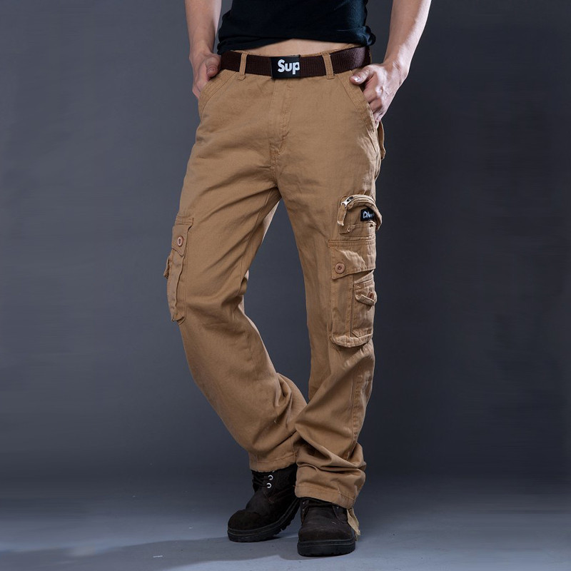 DUQI High Quality Multi Pockets Cargo Pants Men 2018 New Arrival Fashion Casual Pants Lo ...
