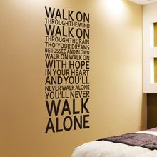Large Size Art Wall Decor Removable Youll Never Walk Alone Vinyl Sticker Home Mural Decals Poster AY466