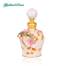 Dragonfly Design Retro 5ml Graven Metal and Glass Empty Container Refillable Portable Gift Perfume Bottle Home Decoration