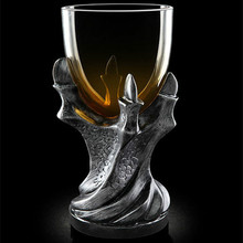 RUIDA 3D Game of Thrones Mug Creativity Skull Dragon Claw Cup Dragon Glass Shot Cup Beer Glass Cup 3 Colour GL01 inside interiors of colour fabric glass light