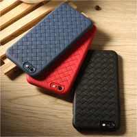 Silikontelefonkasten für iPhone 8 Luxury Grid Weberei Weichen Tpu Cases für iPhone 6 6 s 6 7 7 Plus Abdeckung Fall für iPhone X