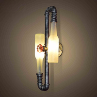 Fashion Vintage Rustic Sconces Beer Bottle Wall Lamp Led Light For Bar Bedroom Hallway Balcony Decor G9 LED Bulb Home Lighting